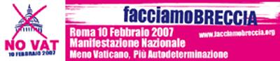 Roma, 10 febbraio 2007: NO VAT